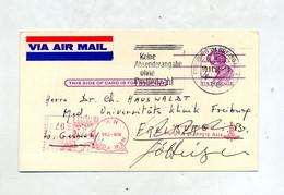 Carte Postale  4 C Lincoln + Machine New York  Flamme Freiburg - 1961-80