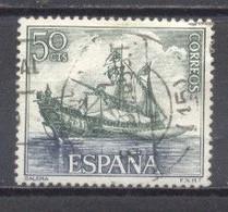 España, 1964, Homenaje A La Marina Española, Edifil 1602, Usado - 1961-70 Oblitérés