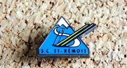 Pin's SPORT D'HIVER - SKI Club SC SAINT-REMOIS Saint-Rémy - EMAIL Froid - Fabricant Inconnu - Sports D'hiver
