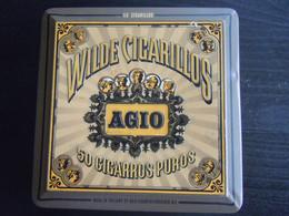 Wilde Cigarillos Agio Boîte En Metal Pour Cigares Blikken Doos Voor 50 Sigaren 11,5 X 11,5 X 4,5 Cm - Scatola Di Sigari (vuote)