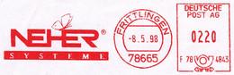 Freistempel Kleiner Ausschnitt 908 Schmetterling - Affrancature Meccaniche Rosse (EMA)