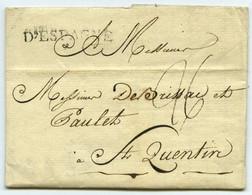 Marque Linéaire D'ESPAGNE / LàC 1790 De Lisbonne à St-Quentin. - 1701-1800: Precursores XVIII