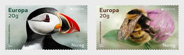Norwegen Norway  MNH ** 2021  Europa 2021 - Endangered National Wildlife Set M - 2020