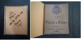 Plan De La Ville De SENS (Yonne) / 1949 - Europe