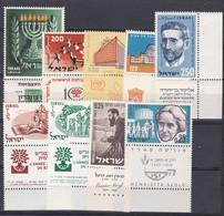 Israel - Lot Aus 1955 - 1960 - Postfrisch MNH Mit Tab - Sin Clasificación