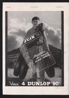 Pub 1937 Automobile PNEU DUNLOP 90 Pneus Dos Semaine CAMIQUE Dessin Humour CAMI - Publicités