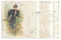 Saint Dié Illustrateur Ad. Weick, N° 1259 Femme Allant à La Chasse Avec Son Fusil 1903 - Saint Die