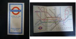 Plan Du Métro De Londres / Underground - Diagram Of Lines - London Transport / 1965 - Europe