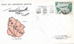1961 VISITA GRONCHI Lire 185, Con Annullo Speciale, Volo, Viaggiata - 1961-70: Marcofilie
