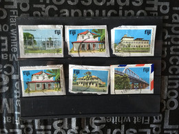 (2-5-2021)  Fiji Island - 14 Used Stamps On Paper - Fiji (1970-...)