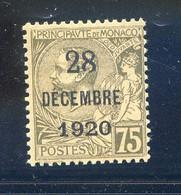 TIMBRES MONACO REF020521LI, Timbre N° 49, Neuf , Charnière - Non Classificati