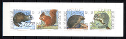 BE   2477 - 2480  Obl  --  Nature : Petits Mammifères -  Obl. Parfaite Herstal 1er Jour + 2  -  Carnet B23 - Used Stamps