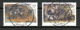 BE   2693 - 2694  Obl  --   Europa : Flandre / Wallonie  -  Obl. Parfaite Herstal  1er Jour + 3  -  Gomme XX MNH - Used Stamps