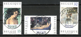 BE   2699 - 2701  Obl  --   Paul Delvaux  -  Obl. Parfaite Herstal  1er Jour + 3  -  Gomme XX MNH - Used Stamps