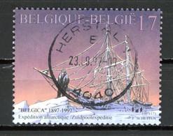 BE   2726  Obl  --   Expédition Antarctique Belgica  -  Obl. Parfaite Herstal  1er Jour + 3  -  Gomme XX MNH - Used Stamps