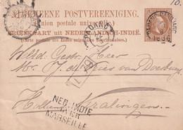 INDES NEERLANDAISES 1886  ENTIER POSTAL/GANZSACHE/POSTAL STATIONARY  CARTE DE PADANG - Nederlands-Indië