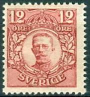 ZWEDEN 1911-14 12õre Karmijn Gustav  V Zonder WM PF-MNH-NEUF - Unused Stamps
