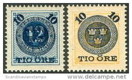 ZWEDEN 1898 Opdrukken Op Ringtype Serie PF-MNH-NEUF - Unused Stamps