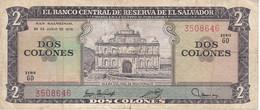 BILLETE DE EL SALVADOR DE 2 COLONES DEL AÑO 1976/77 DE CRISTOBAL COLON   (BANKNOTE) - El Salvador