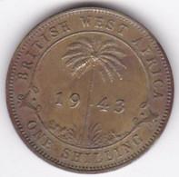 British West Africa 1 Shilling 1943 George VI,  En Laiton De Nickel,  KM# 23 - Other - Africa