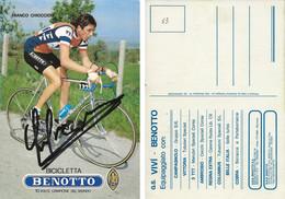 CARTE CYCLISME FRANCO CHIOCCIOLI SIGNEE TEAM VIVI - BENOTTO 1983 - Cycling