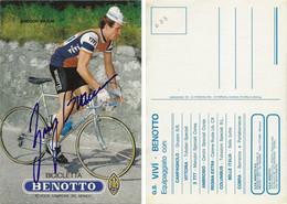 CARTE CYCLISME GREGOR BRAUN SIGNEE TEAM VIVI - BENOTTO 1983 - Cycling