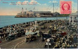 1925 CUBA , T.P. CIRCULADA , CÁRDENAS - DILLENBURG , PASEO DE CARNAVAL EN EL MALECÓN , COCHES , DESFILES - Briefe U. Dokumente