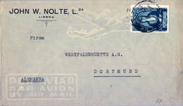 1953 PORTUGAL , SOBRE CIRCULADO , LISBOA - DORTMUND , SANTA JOANA - Covers & Documents