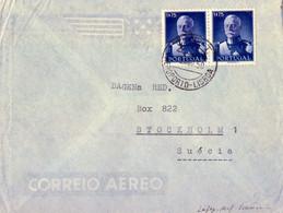 1950 PORTUGAL , SOBRE CIRCULADO ,  AEROPORTO LISBOA - ESTOCOLMO , CORREO AÉREO - Covers & Documents