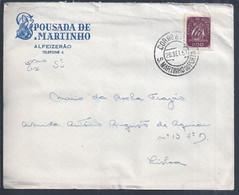 Letter From Pousada De S. Martinho, Alfeizerão, With Obliteration By S. Martinho Do Porto. Carta Da Pousada De S. Martin - Lettere