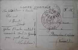 H 6 1939/45 Carte Postale Service A La Mer Fort De Gavres Par Port Louis - Correo Naval