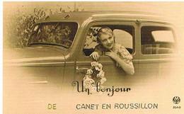 66  UN  BONJOUR   DE   CANET  EN  ROUSSILLON    CPM  TBE  VR1046 - Canet En Roussillon