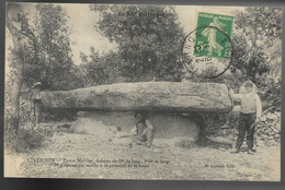 46-LIVERNON- Pierre Martine, Dolmen... 1916  Animé  (coin Pli) - Livernon
