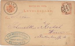 10 Karten / Briefe Ungarn Mit Bahnpoststempeln / TPO (08) - Covers & Documents