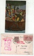 Militaire // 1914-1918 // Carte Censurée , Lancio Di Bombe Dalla Navicella Di Uno Zeppelin - War 1914-18
