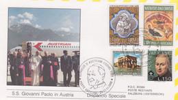 1988-Vaticano Dispaccio Speciale Visita Di S.S.Giovanni Paolo II A Salzeburg Salisburgo - Luchtpost