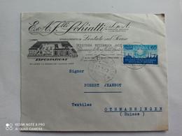 1957 - BUSTA COMMERCIALE F.lli SCHIATTI S.p.A. , Lentate Sul Seveso. Tessitura Meccanica - 1946-60: Storia Postale