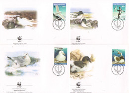Ross Dependency 1997 Sea Birds  Conservation Of The Nature  WWF Mi 50-53 FDC - FDC