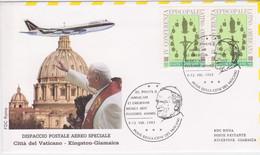 1993-Vaticano S.S. Giovanni Paolo II Dispaccio Volo Straordinario Per Kingstone (Jamaica) - Luchtpost