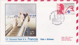 1988-Francia S.S. Giovanni Paolo II Dispaccio Volo Straordinario Rientro Visita A Mulhouse Francia - 1961-....