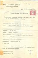 CONFERMA D'ORDINE,ERRANI,MASSALOMBARDA (RAVENNA)-1959 - PER MERCE DESTINATA  ESTERO, - Unclassified