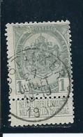OCB 81 - Afstempeling OOSTACKER - COBA 8 - 1893-1907 Wappen