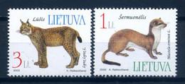 Lithuania 2002 Lituania / Mammals Lynx Ermine MNH Mamiferos Felinos Lince Armiño / Iw23  30-14 - Raubkatzen