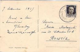 1939-Albania Cartolina Tirana Nate Feste Diretta In Italia Affrancata 30c. Imperiale Annullo Ufficio Posta Militare 22 - Albanien