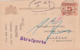 INDES NEERLANDAISES 1931 ENTIER POSTAL/GANZSACHE/POSTAL STATIONARY CARTE TAXEE DE BANDOENG - Netherlands Indies
