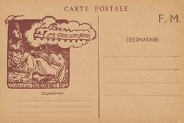"""CPFM NEUVE """" LA PERM """" COLLECTION DUBONNET N°3 - Train Guerre 39-45 - WW2 Carte - Militaria"""