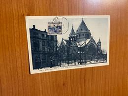Timbre YT 165 Orphelins De Guerre Sur Carte De Strasbourg -la Synagogue - 1921-1960: Modern Period