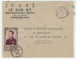 Laos // Royaume Du Laos // Lettre Pour Saigon Le 4/8/1952 - Laos