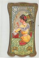 LEFEVRE UTILE BOUDOIR GAUFRETTE VANILLE ART NOUVEAU 1900 FEMME COIFFURE - Lu