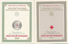 EA-121: FRANCE: Lot Avec Carnets Croix Rouge** 1956-1957 - Rotes Kreuz